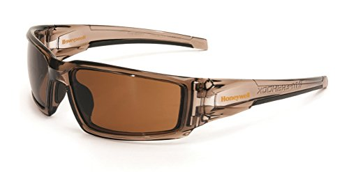 Uvex by Honeywell Hypershock Safety Glasses, Brown Frame with Espresso...