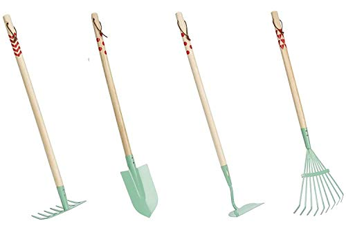 Beetle & Bee Kids Garden Tall Tool Set-Real Gardening Tools for Small...