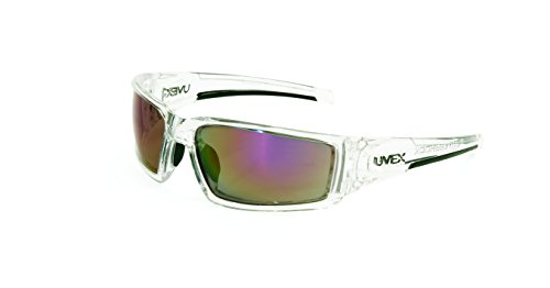 Uvex by Honeywell Hypershock Safety Glasses, Clear Frame with Red Mirror...