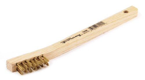Forney 70490 Wire Scratch Brush, Brass with Wood Handle,...