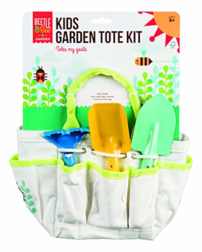 Toysmith Beetle & Bee Kids Garden Tote Kit, Light Blue