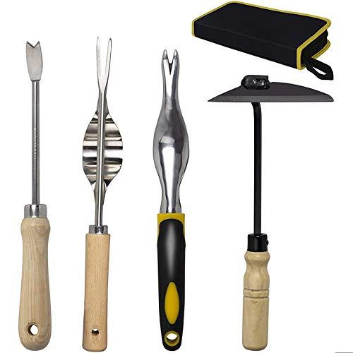 KOTTO 4 Pack Set Hand Weeder Tool, Garden Weeding Tools with Ergonomic...