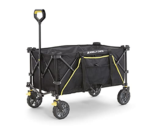 Gorilla Carts GCSW-7P 7 Cu. Ft. Collapsible Folding Outdoor Utility Wagon...