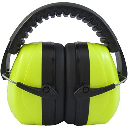 JORESTECH Safety Earmuffs Lime Adjustable Headband Noise Reduction for...