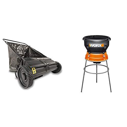 Agri-Fab 45-0218 26-Inch Push Lawn Sweeper, 26 Inches, Black & Worx WG430...