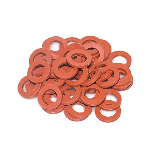 Hourleey Garden Hose Washer Rubber, Heavy Duty Red Rubber Washer Fit All...