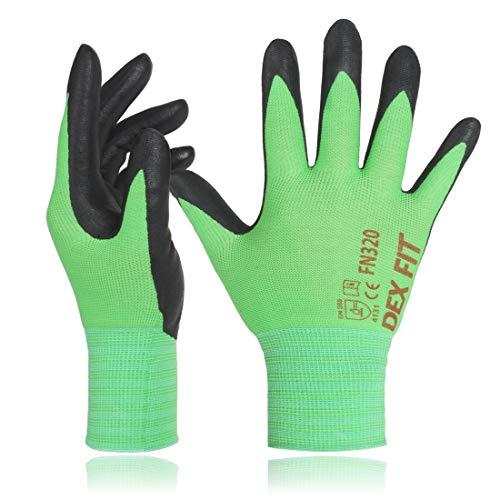 DEX FIT Green Gardening Gloves FN320, 3D Comfort Stretch Fit, Power Grip,...