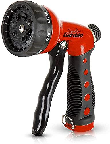 Signature Garden Heavy-Duty Nozzle, Comfort-Grip 8 Different Spray Patterns...