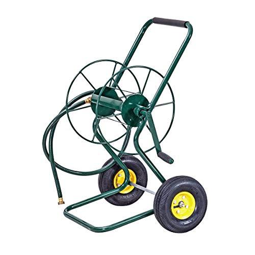 Goplus Garden Hose Reel Cart with Wheels Heavy Duty Outdoor Water Planting...
