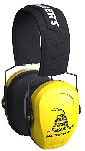 Walker's Game Ear Razor Passive - Yellow - Black Don't Tread on Me Logo