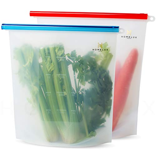 Homelux Theory Reusable Silicone Food Storage Bags Silicone Bags Reusable...