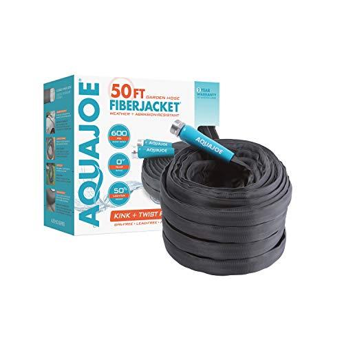 Aqua Joe AJFJH50-58-PRO FiberJacket Non-Expanding Kink-Free Garden, RV,...