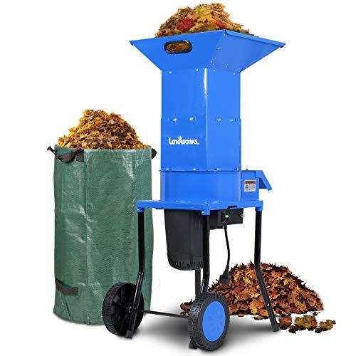 Landworks Leaf Mulcher Shredder Electric Green and Waste Management Heavy...