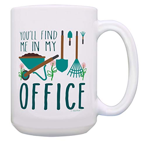 Master Gardener Gifts You'll Find Me In My Office Gardener Coffee Cup 15-oz...