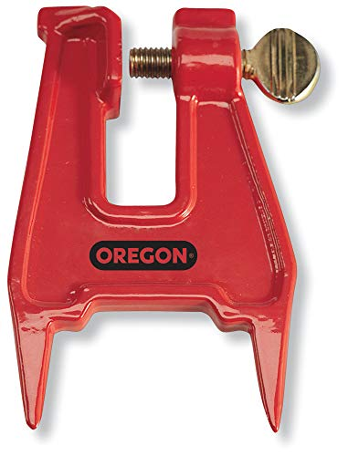 Oregon 26368A Chainsaw Filing Stump Vise For Sharpening Saw Chain , Red