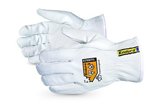 Superior Goatskin Leather Work Gloves – Kevlar Lined Cut Resistant, Arc...