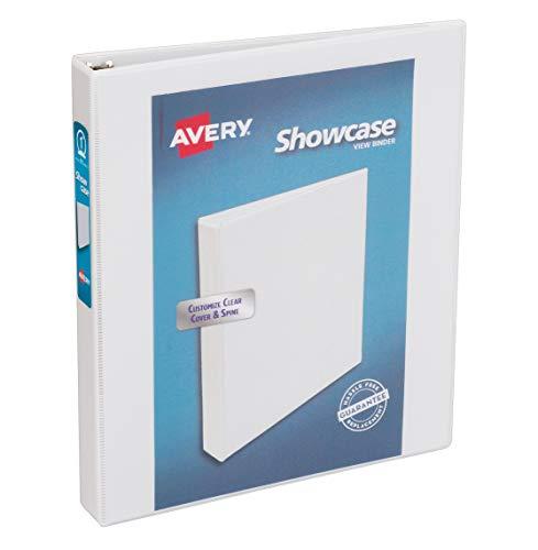 Avery Economy Showcase View Binder with 1 Inch Round Ring, White, 1 Binder...