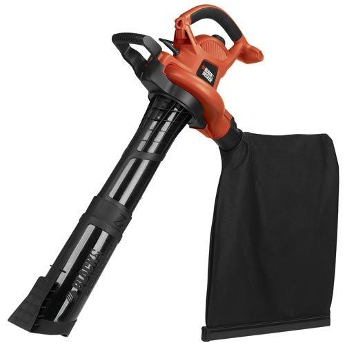BLACK+DECKER 3-in-1 Electric Leaf Blower, Leaf Vacuum, Mulcher, 12-Amp...