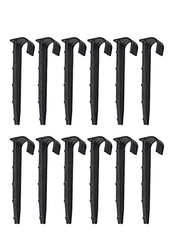 12pc 5-Inch x 1/2' & 3/4' Diameter Hose Hold Down Stakes for Irrigation...