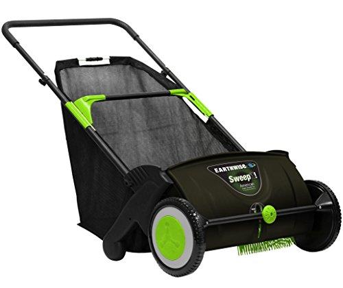 Earthwise LSW70021 21-Inch Leaf & Grass Push Lawn Sweeper, Width, Black