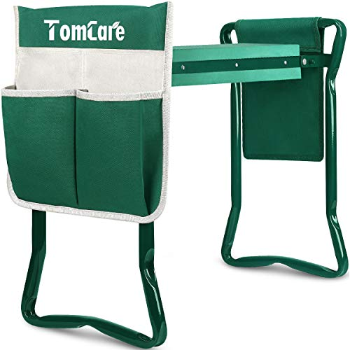 TomCare Garden Kneeler Seat Garden Bench Garden Stools Foldable Stool with...