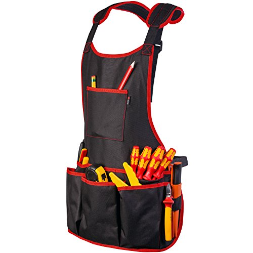 NoCry Professional Canvas Work Apron - with 16 Tool Pockets, Fully...