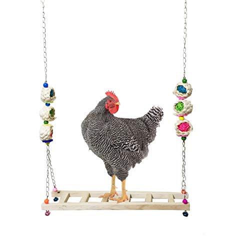 Vehomy Chicken Ladder Swing Chicken Perch Chicken Wood Stand Chicken Toy...