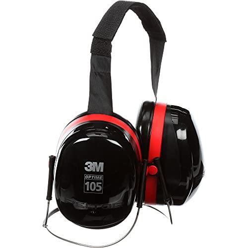 3M PELTOR Optime 105 Earmuffs H10B, Behind-the-Head