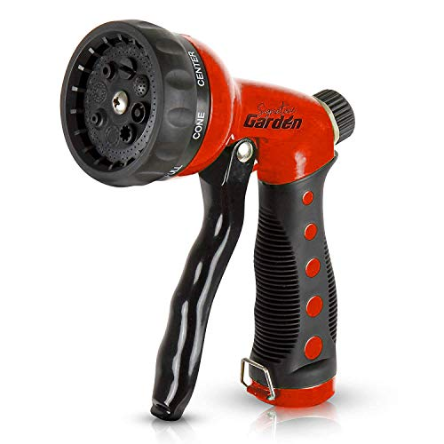 Signature Garden Heavy-Duty Nozzle, Comfort-Grip 8 Different Spray Patterns...