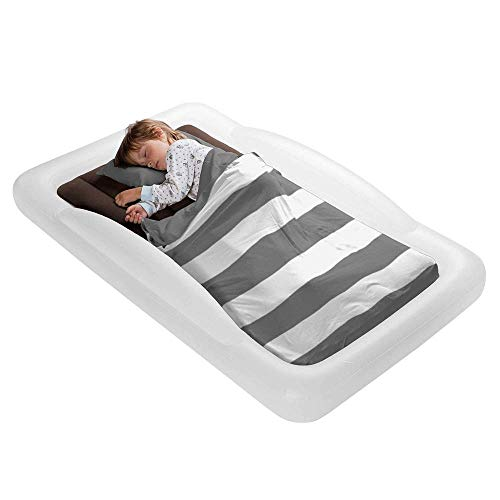 The Shrunks Toddler Travel Bed Portable Inflatable Air Mattress Blow Up Bed...