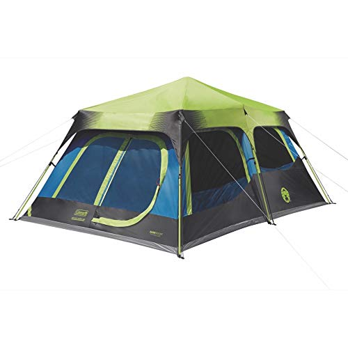 Coleman 2000032730 Camping Tent | 10 Person Dark Room Cabin Tent with...