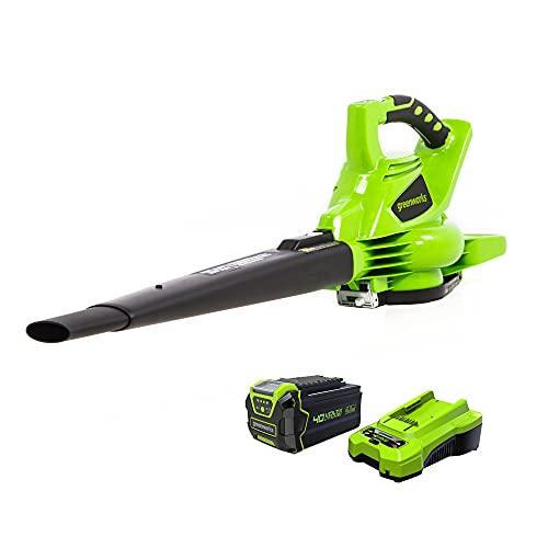Greenworks 40V (185 MPH) Brushless Cordless Blower / Vacuum, 4.0Ah Battery...
