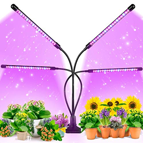 EZORKAS 9 Dimmable Levels Grow Light with 3 Modes Timing Function for...