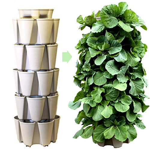 GreenStalk Patented Large 5 Tier Vertical Garden Planter with Patented...