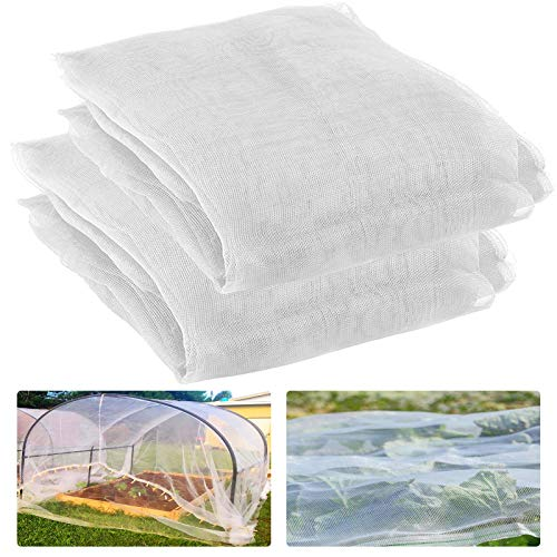 2 Pack Garden Screen Barrier Netting Mesh Netting 9.8ft × 6.5 ft (White)