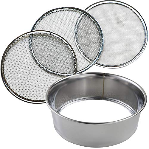 Hanafubuki Wazakura 3PCS Soil Sieve Set 8-1/4inch(210mm), Made in Japan, 3...