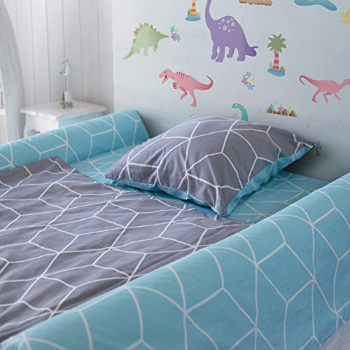 (2-Pack) Extra-Tall Foam Bed Rails for Toddlers | Soft Bed Bumpers for Kids...