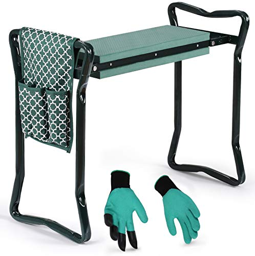 Garden Kneeler And Seat - Protects Your Knees, Clothes From Dirt & Grass...