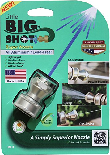 K-Co Innovations Aluminum Big Shot Nozzle - Garden Hose Nozzle - High...