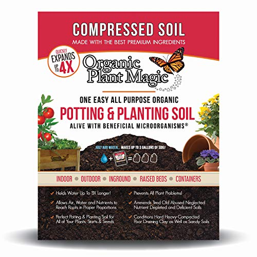 Compressed Organic Potting-Soil for Garden & Plants - Expands up to 4 Times...