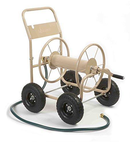 Liberty Garden 870-M1-2 Industrial 4-Wheel Garden Hose Reel Cart, Holds...
