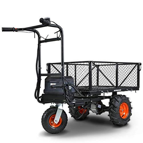 SuperHandy Utility Service Cart Power Wagon Wheelbarrow Electric 48V DC...