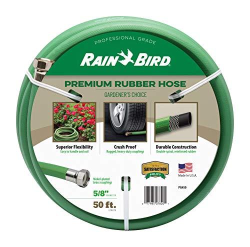 Rain Bird PGH50 Premium Heavy-Duty Garden Hose, 100% EDPM Rubber,...