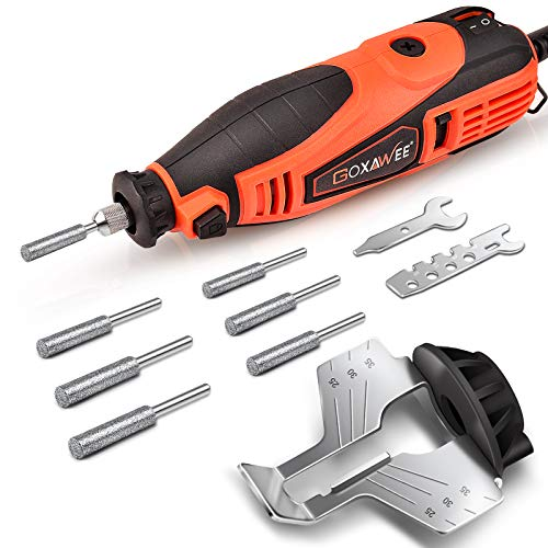 GOXAWEE Chainsaw Sharpener Kit 180W Power Chain Saw Sharpen Tool Set,...