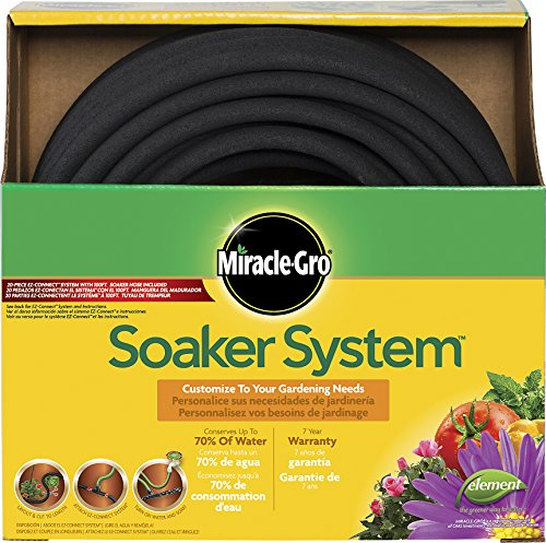 Swan Products MGSPAK38100CC Miracle-GRO Soaker System Customizable Hose...