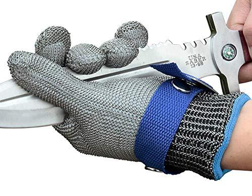 Schwer Level 9 Cut Resistant Glove Stainless Steel Mesh Metal Wire Glove...