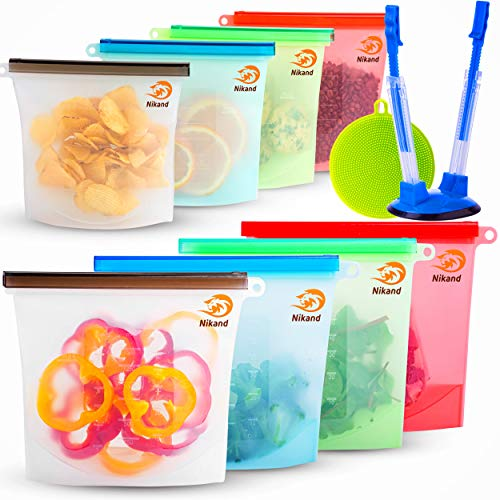 Silicone Bags Reusable Silicone Food Bag Reusable Sandwich Bags Silicone...