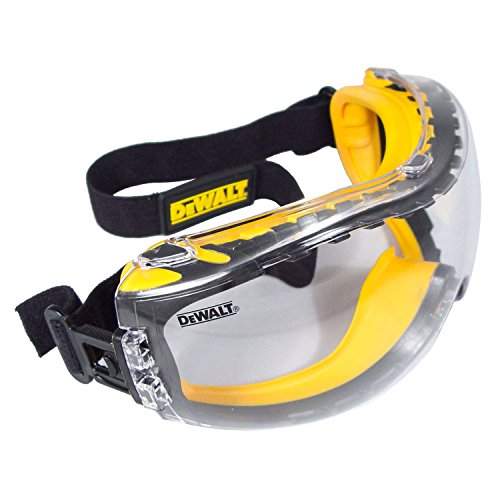 DEWALT DPG82-11C Concealer Clear Anti-Fog Dual Mold Safety Goggle, Clear...