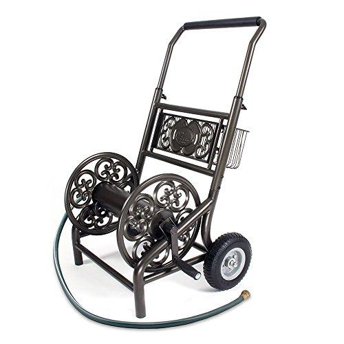 Liberty Garden 301 Never Flat 2-Wheel Decorative Garden Hose Reel Cart,...