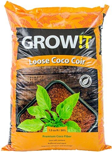 GROW!T JSCMIX15 - Loose Premium Coco Fiber Growing Media, (1.5 Cubic Feet),...